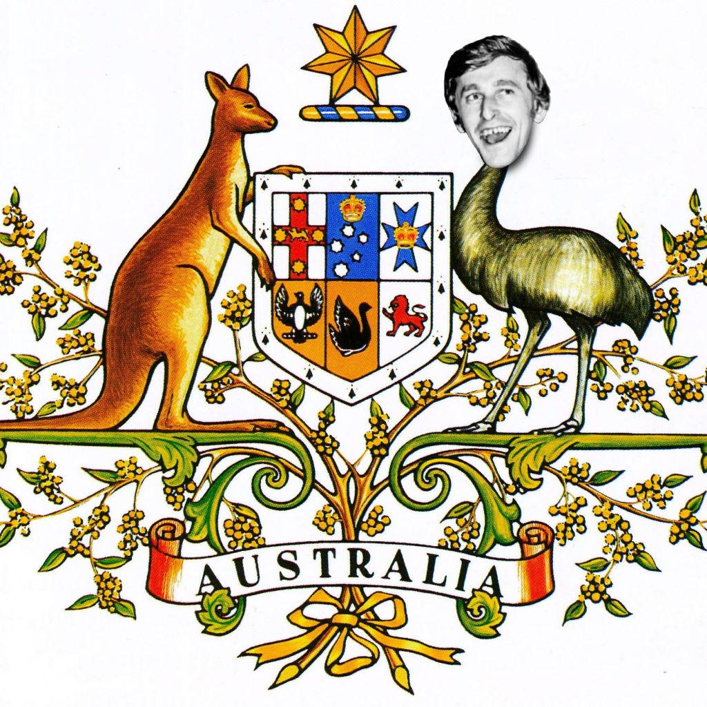 Australian coat of stubby holders