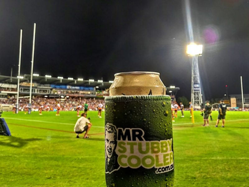 Stubby holders at the footy